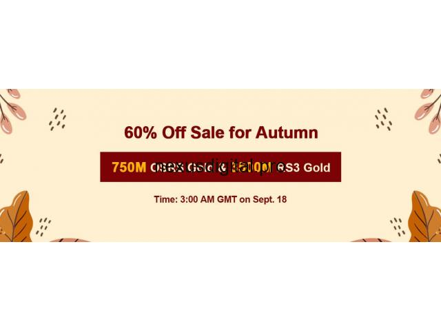 Limited Time to Gain RSorder Autumn 2020 2007 Runescape Gold with 60% Off on Sept 18