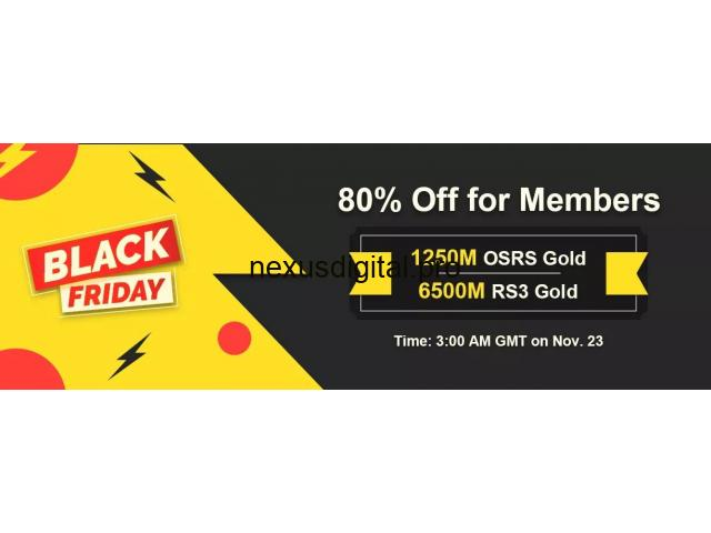 Precious Chance to Take RSorder 80% Off OSRS Gold for Black Friday